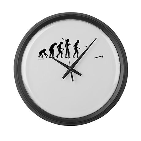Evolution of Cornhole Large Wall Clock