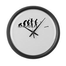 Evolution of Cornhole Large Wall Clock