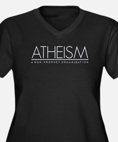 Atheism Women's Plus Size V-Neck Dark T-Shirt