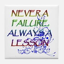 Cute Motivational quote Tile Coaster