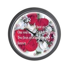 WEdding Roses Wall Clock