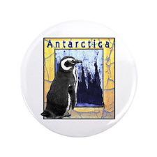 """Antarctica Penguin 3.5"""" Button"""