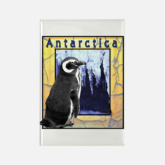 Antarctica Penguin Rectangle Magnet