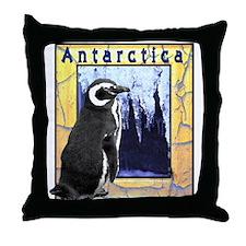 Antarctica Penguin Throw Pillow