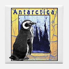 Antarctica Penguin Tile Coaster