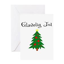 Danish Christmas Tree Greeting Card