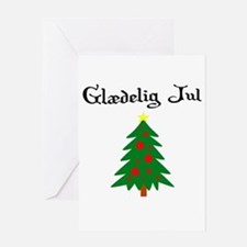 Danish Christmas Tree Greeting Card