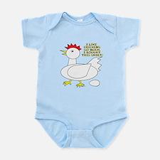 I Like Chickens Infant Bodysuit