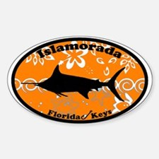 Islamorada FL - Oval Design Oval Decal