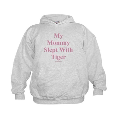 Mommy Slept With Tiger Kids Hoodie