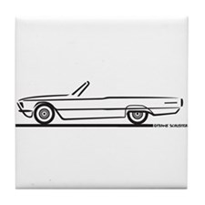 1966 Ford Thunderbird Convertible Tile Coaster