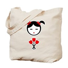 Child Red Tulips Tote Bag