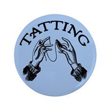 "Tatting 3.5"" Button"