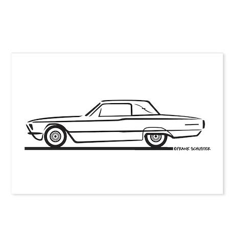 1966 Ford Thunderbird Landau Postcards (Package of