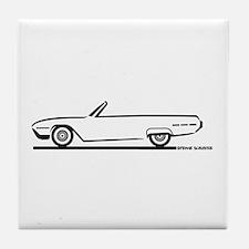 1962 Ford Thunderbird Convertible Tile Coaster