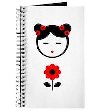 Girl Red Flower Journal