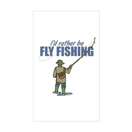 Fly Fishing Sticker (Rectangle)