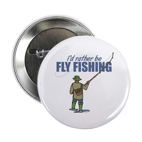 """Fly Fishing 2.25"""" Button (10 pack)"""