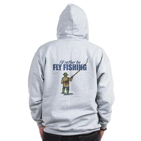 Fly Fishing Zip Hoodie