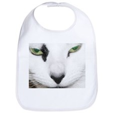 White Cat Bib