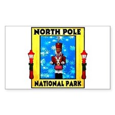 North Pole National Park Rectangle Decal