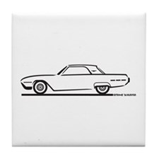 1962 Ford Thunderbird Hardtop Tile Coaster