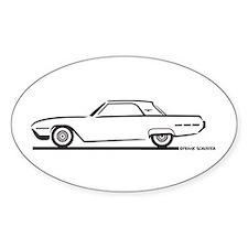 1962 Ford Thunderbird Hardtop Oval Decal