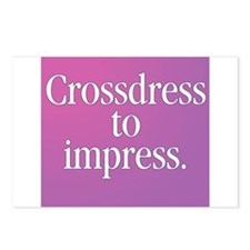 Crossdress to Impress Postcards (Package of 8)