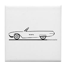 1963 Ford Thunderbird Convertible Tile Coaster
