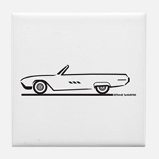 1963 Ford Thunderbird Convertible Tile Coaster