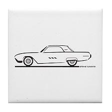 1963 Ford Thunderbird Hardtop Tile Coaster