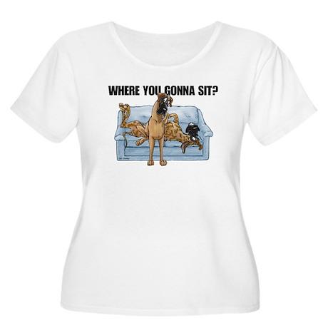 NBrNF Where RU Women's Plus Size Scoop Neck T-Shir