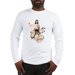 Jesus Drummer Saves Drums Long Sleeve T-Shirt