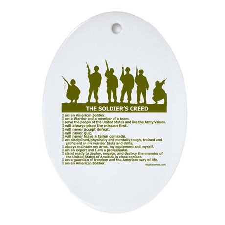 SOLDIER'S CREED Oval Ornament