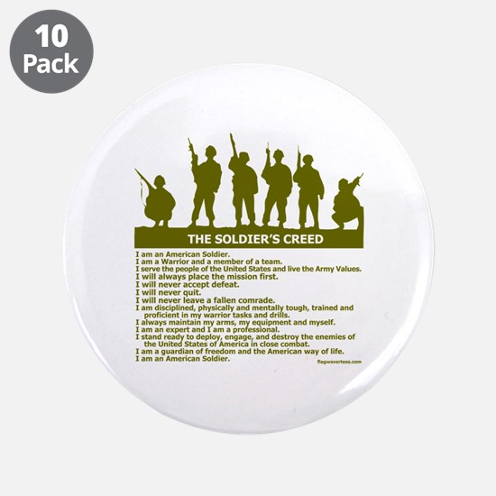 "SOLDIER'S CREED 3.5"" Button (10 pack)"