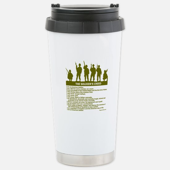 SOLDIER'S CREED Stainless Steel Travel Mug