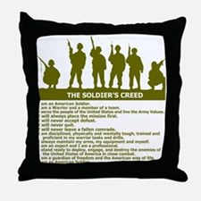 SOLDIER'S CREED Throw Pillow
