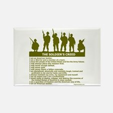 SOLDIER'S CREED Rectangle Magnet (10 pack)