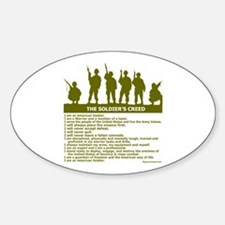 SOLDIER'S CREED Oval Decal