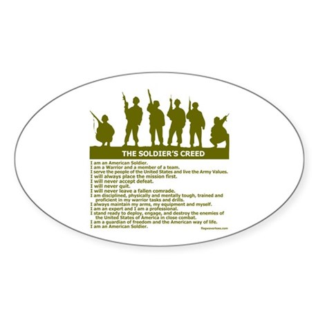 SOLDIER'S CREED Oval Sticker (50 pk)