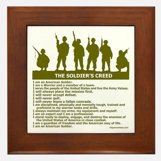 SOLDIER'S CREED Framed Tile