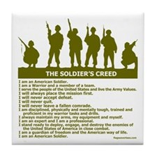 SOLDIER'S CREED Tile Coaster
