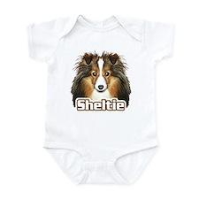 Sheltie Face - Color Infant Bodysuit