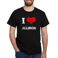 I Love Allison Black T-Shirt