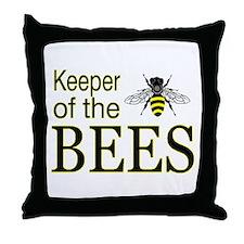keeping bees Throw Pillow