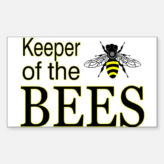 keeping bees Rectangle Decal