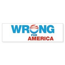 Obama Wrong for America Bumper Bumper Sticker