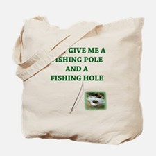 Fishing Hole & a Fishing Pole Tote Bag