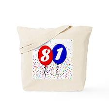 81st Birthday Tote Bag