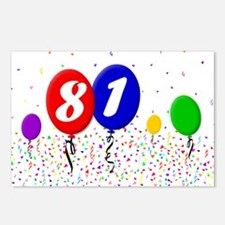81st Birthday Postcards (Package of 8)